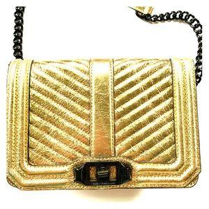 Rebecca Minkoff small Love Crossbody gold black